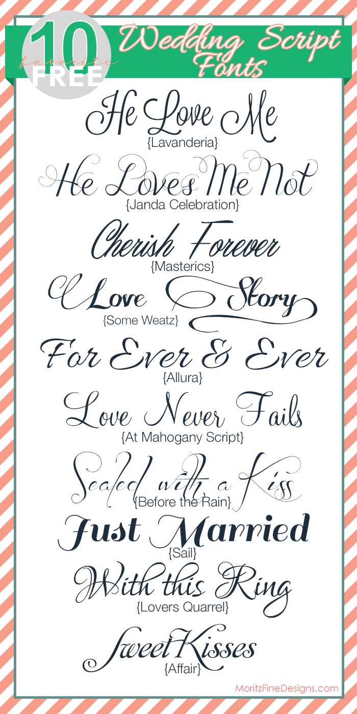 free FONT friday | fabulous WEDDING SCRIPT fonts