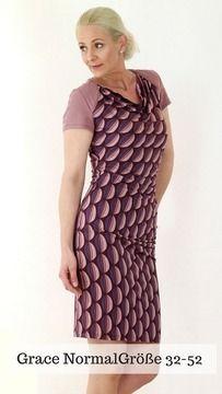 * Grace ist ein Kleid mit seitlicher asymmetrischen Raffung. * Es umfasst die Größen 32-52 (auch in Kurz- und Lang-Größen erhältlich) * Es umschmeichelt Deinen Körper und setzt deine Kurven gekonnt in Szene . * Mit einem Wasserfall- Ausschnitt zaubert es ein reizvolles Dekolleté. * Selten konntest Du Dich mit einem Kleid weiblicher fühlen. * Auch als Shirt wird es zu einem wunderbaren Begleiter für Büro, Stadt, Urlaub und Events. * Trotz der Raffinesse des Schnittes, ist Grace recht einfach…