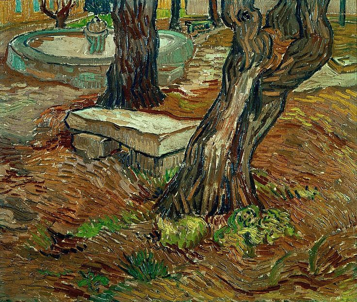 Каменная скамья в саду госпиталя Сен-Поль. Винсент Ван Гог