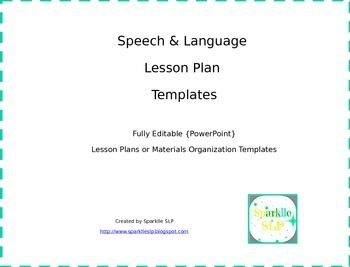 14 best slp theme therapy and monthly lesson plans images for Speech pathology lesson plan template