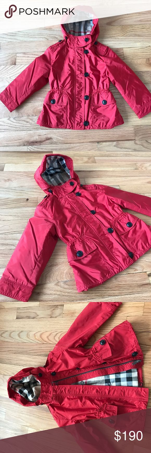 New Burberry red nylon jacket New with tags. Selling online at Neiman Marcus online for full price!!! Burberry Jackets & Coats