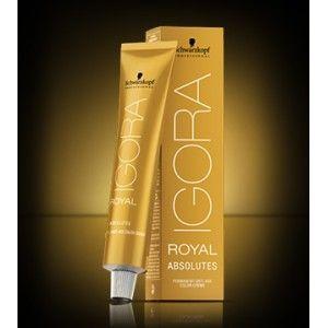 La maison des coiffeurs vous propose la coloration Igora Royal Absolutes qui offre un mélange de pigments spécifiques aux cheveux matures, pour une intensité et une couverture maximales.  Igora Royal Absolutes apporte un soin pour cheveux matures grâce à la Biotine S complexe anti age.