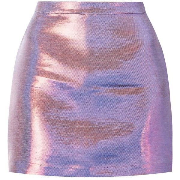 Bold, iridescent shades are leading the way for this season's statement party wear. Try this purple number with a white crop top and silver heels. Metallic shi…