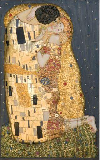 El beso de Klimt. Referencia 4020 de nuestro catálogo