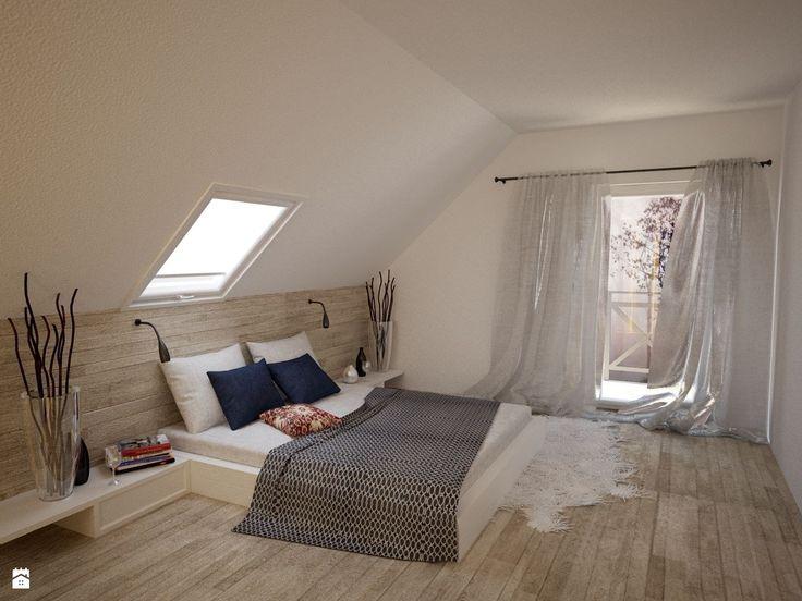 Sypialnia na piętrze w projekcie LAMIA 2 - Sypialnia - Styl Skandynawski - PRO ARTE Arkadiusz Woch, Krzysztof Biodrowicz s.c.
