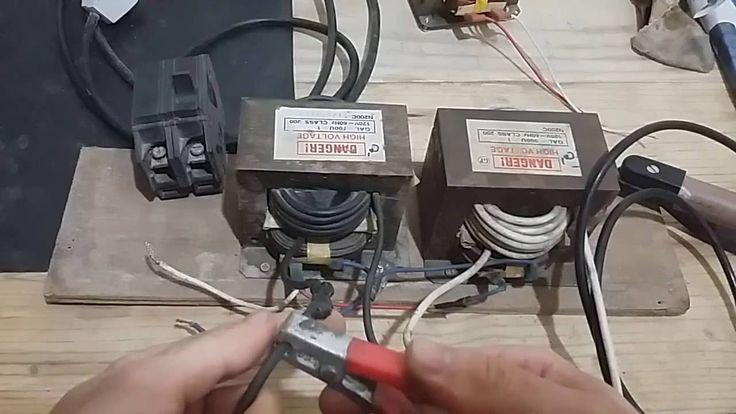 Máquina de solda com transformador de microondas