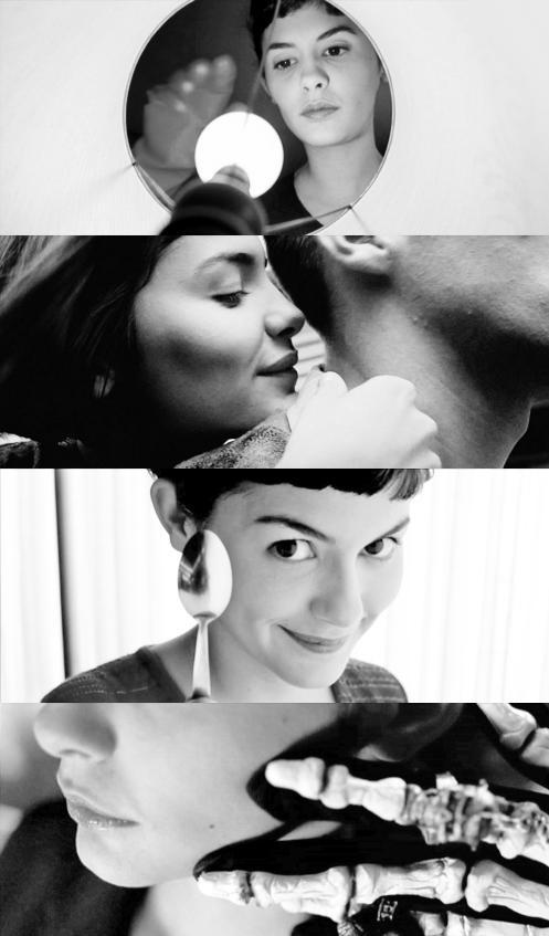 """{Amelie directed by Jean-Pierre Jeunet }{Actors:Audrey Tatou, Mathieu Kassovitz, Jamel Debbouze}{Soundtracks:""""Le Moulin"""" Composed and Performed by Yann Tiersen}"""