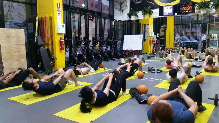 Morning core circuit at Move training club Melbourne Cbd
