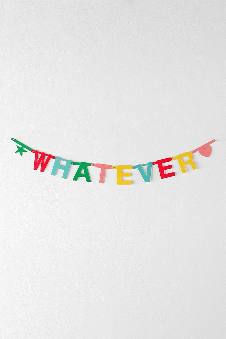 DIY party banner.*Glamour