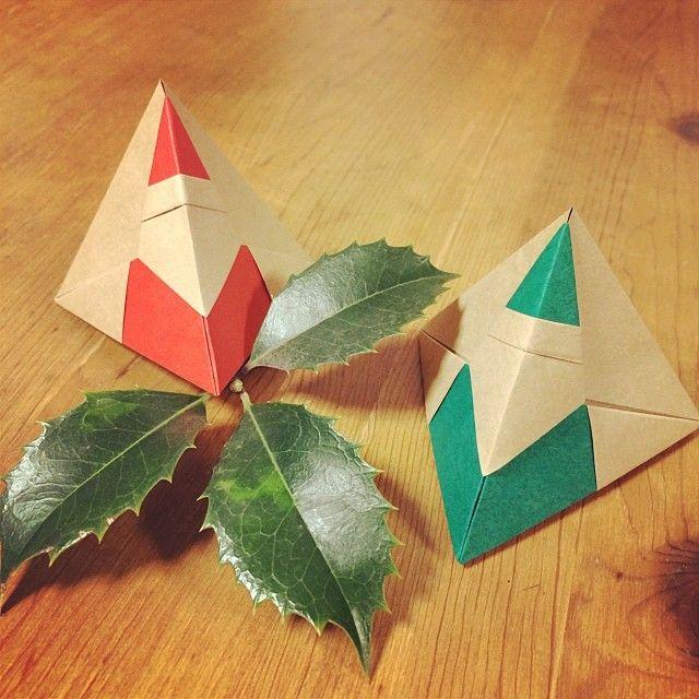 いいね!44件、コメント1件 ― HKさん(@hk__origami)のInstagramアカウント: 「Santa box #origami #origamiart #origamichristmas #christmas #xmas #santa」