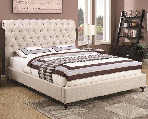 Coaster devon upholstered bed frame upholstered bed for Furniture mattress outlet rancho cordova ca
