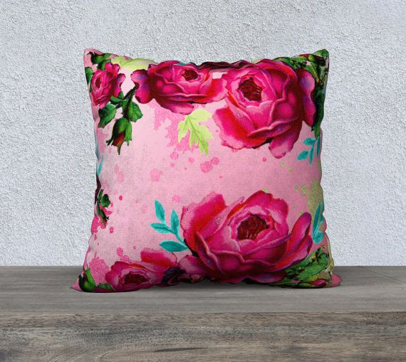 53 best floral cushion covers images on pinterest pillowcases vintage pink peony flowers pink cushion cover mightylinksfo