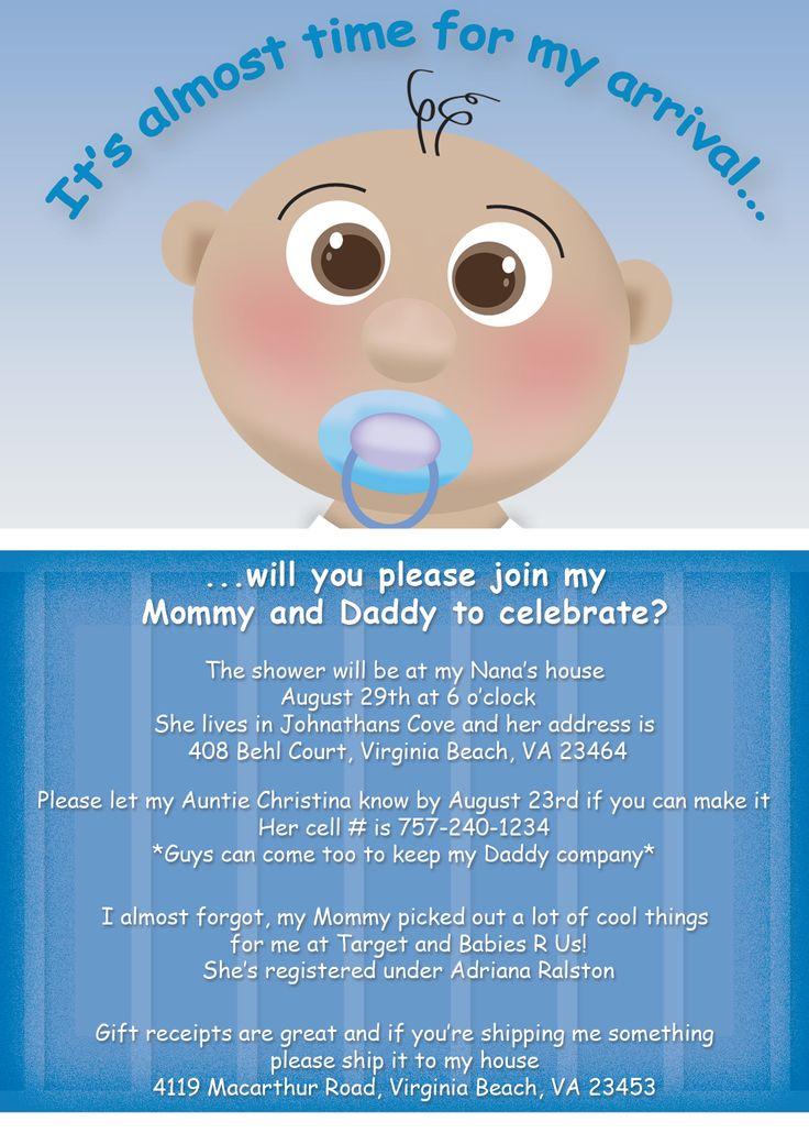 baby shower invitations for boys | Baby Shower Invitation – Boy | Novet Design