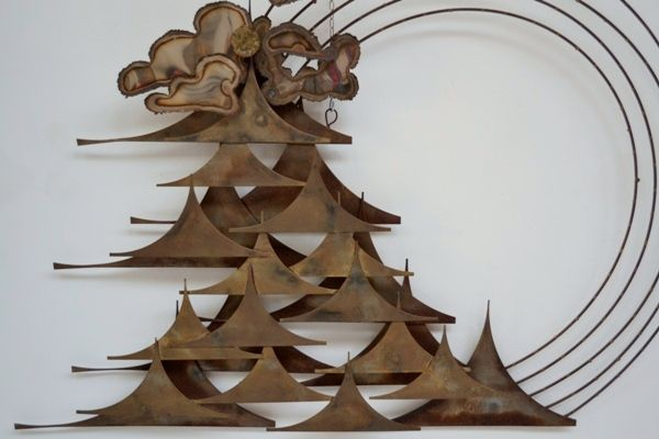 Wall sculpture 60's attribuited to Curtis Jere