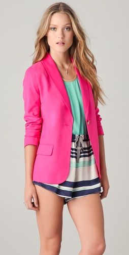 Love hot pink.  Elizabeth and James blazer