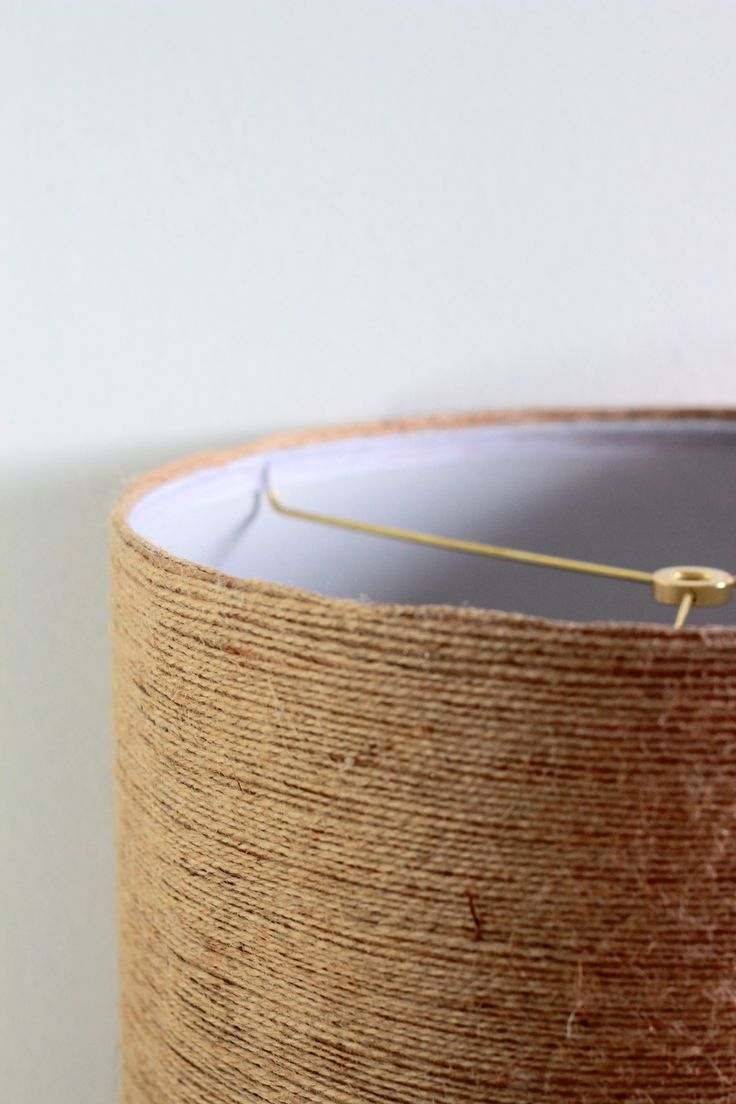 A fall-inspired jute twine wrapped DIY lampshade ...