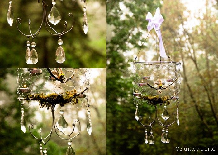 Diy forest chandelier 21 diy ls and chandeliers made of everyday objects beautiful diy chicken wire chandelier beautiful diy forest chandelier aloadofball Images