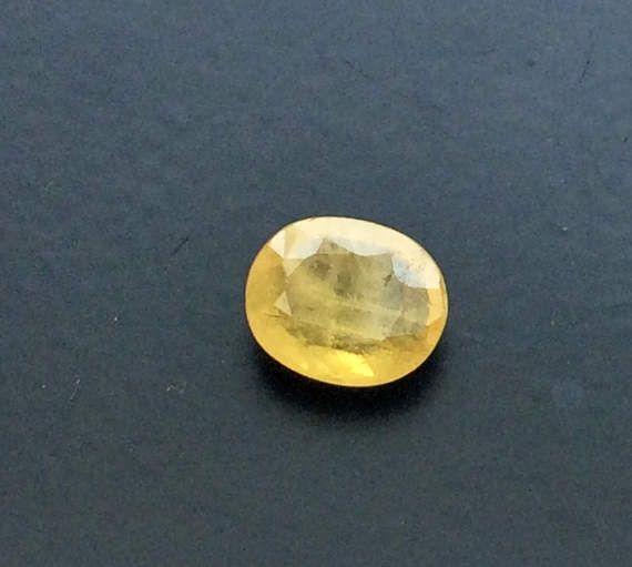 Yellow Sapphire 7.5x9mm Natural Faceted Oval Cut by gemsforjewels