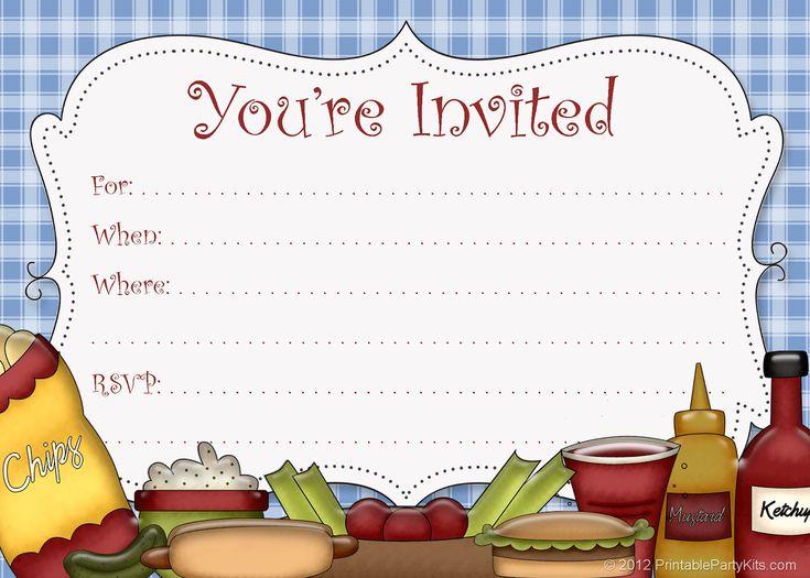 free printable party invitations  free printable picnic