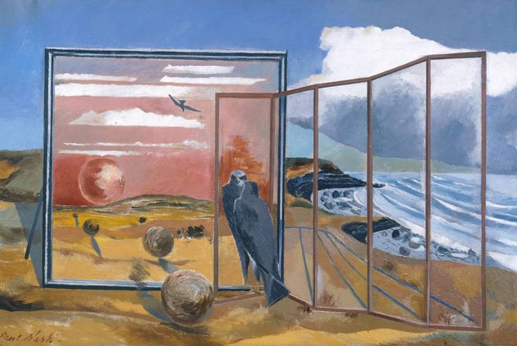 Paul Nash (1889‑1946), Landscape from a Dream, 1936-8, Oil paint on canvas » https://www.tate.org.uk/art/artists/paul-nash-1690