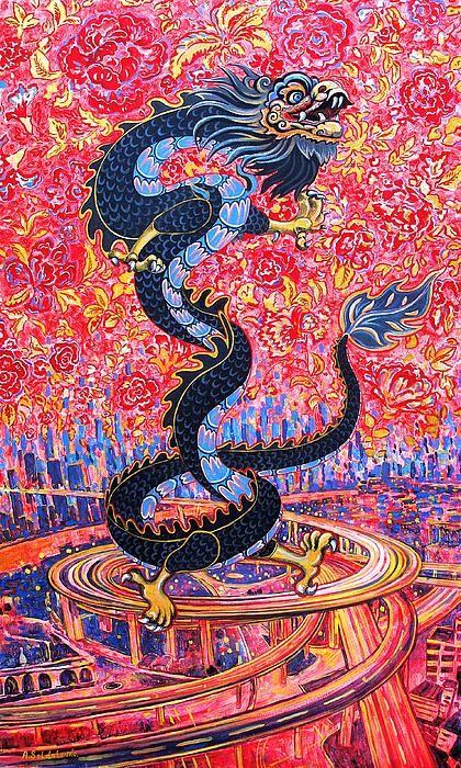 Dragon Shanghai Flowers over the city