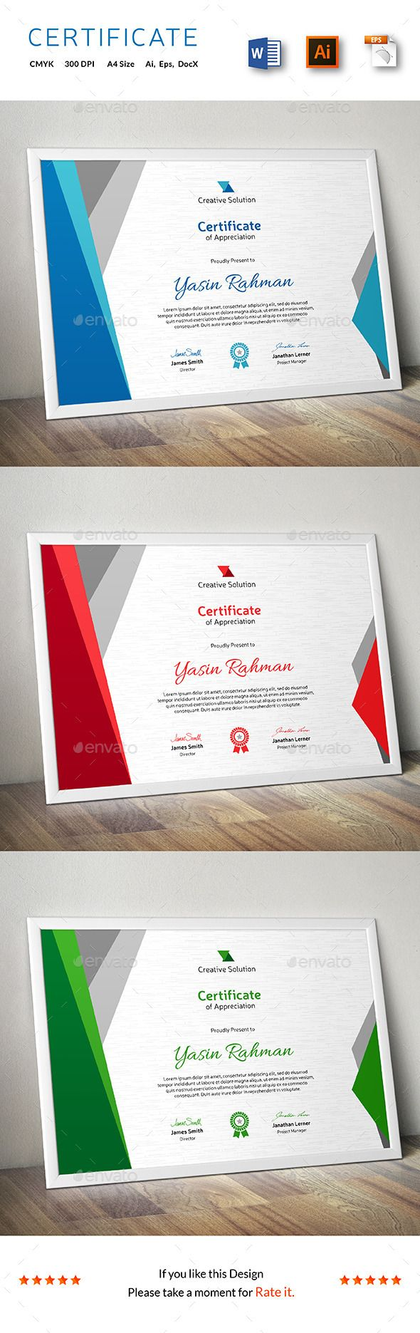 Certificate Of Appreciation Template For Word Prepossessing Certificate  Certificate Template And Certificate Design