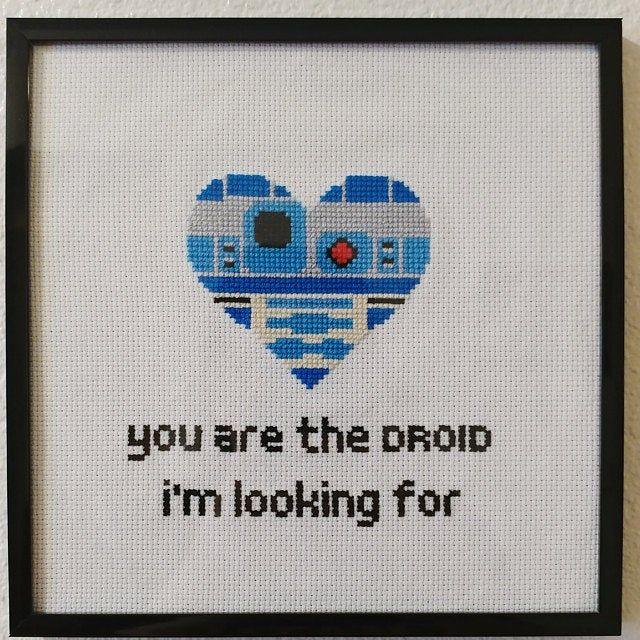 Star Wars Funny Cross Stitch PDF Pattern Mandalorian