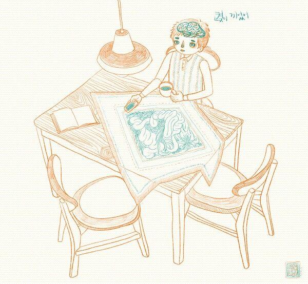 켡 illust drawing by.hyunz