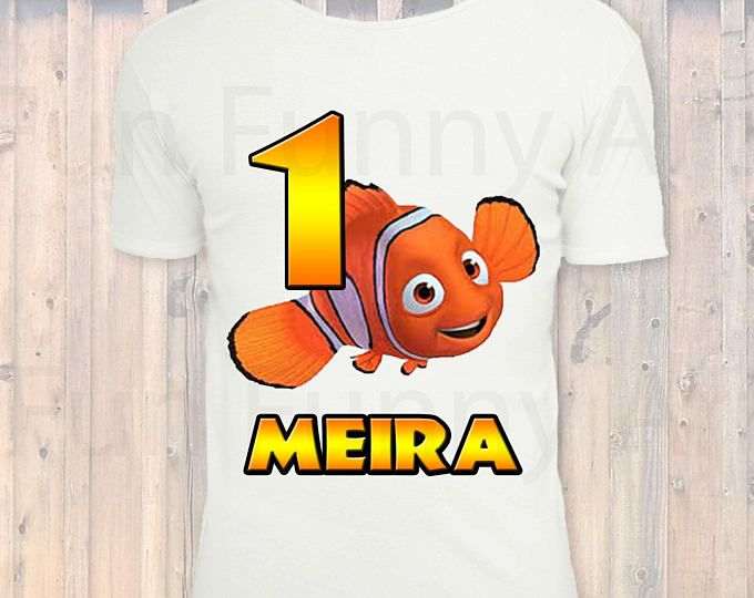 Personalized NEMO Birthday Shirt Iron On Transfer.DIGITAL FILE