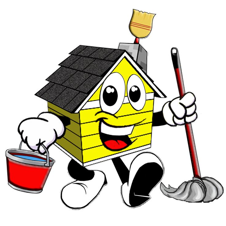 House Cleaning: Professional Cartoon House Cleaning Logos