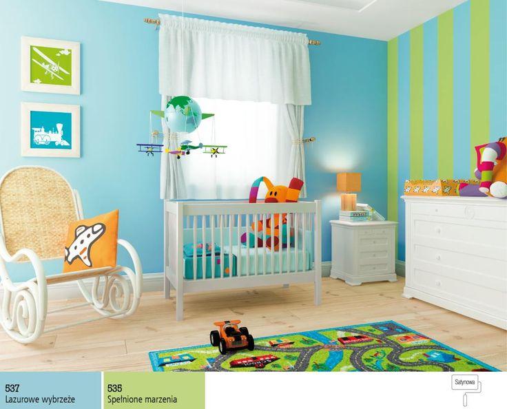 Niebieski do pokoju dziecięcego