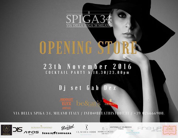 Scopri DIS nell'esclusiva location di Spiga34 Milano partecipa all'evento nel cuore della moda milanese. #weadis #party #opening Mercoledi 23 Novembre dalle 18.30.