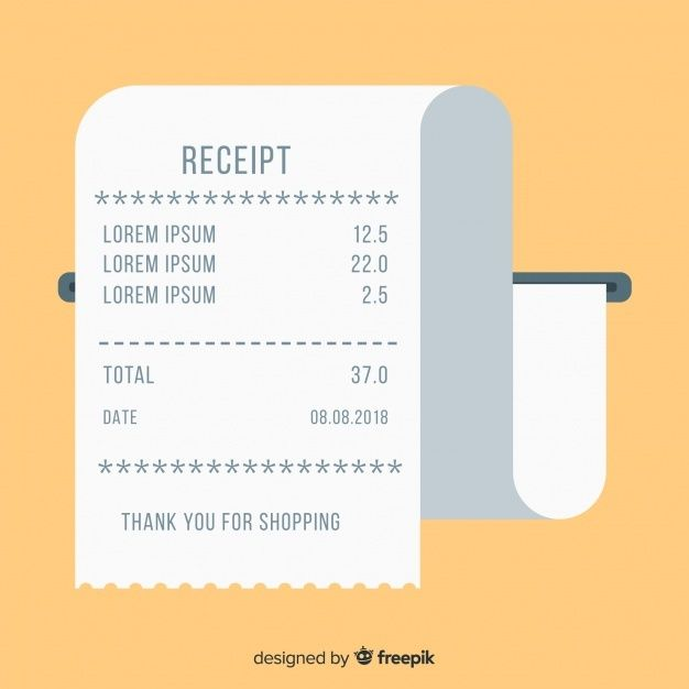Payment Receipt Template With Flat Design Receipt Template Design Templates