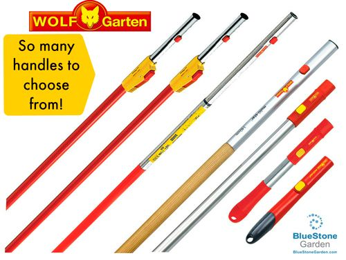 WOLF Garten: A Handle For Every Chore, Every Task, Every Size, Every  Person! Handles Work With All WOLF Garten Tool Heads.