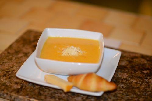 crème de carottes au fromage
