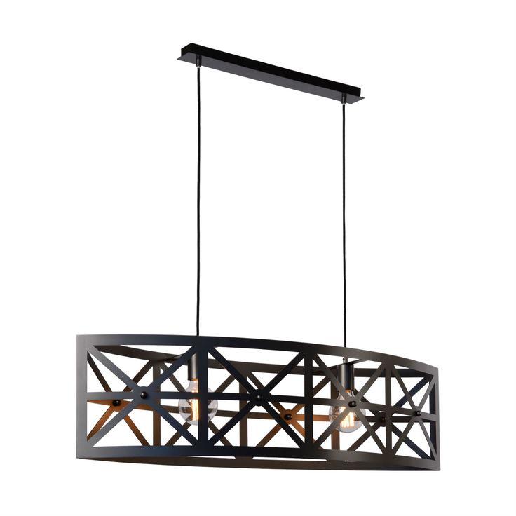 CASTELLO - Lampa wisząca Stal Szary Metalik Dł.105cmcm Lucide