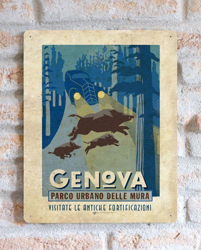 Genova - Parco Urbano delle Mura | TARGA | Vimages - Immagini Originali in stile Vintage