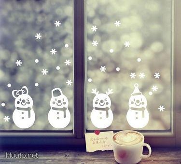 Jouluinen sisustustarra / Christmassy decoration sticker