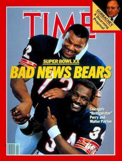 time magazine 1986 - Chicago Bears