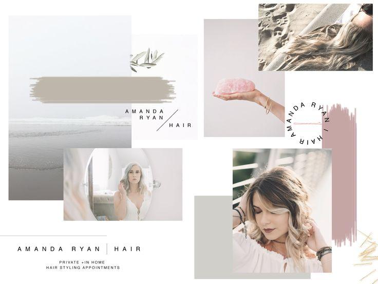 Amanda Ryan Hair Mood Board & Logos