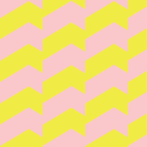 Broken Chevron Yellow  & Pink by Stoflab