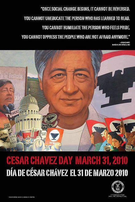 March 31: Cesar Chavez Day! https://en.m.wikipedia.org/wiki/Cesar_Chavez_Day https://de.m.wikipedia.org/wiki/César_Chávez