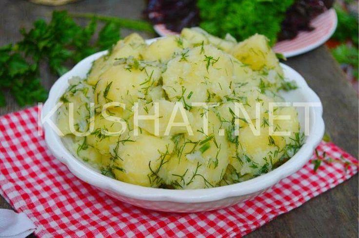 Молодая картошка с укропом. Рецепт с фото