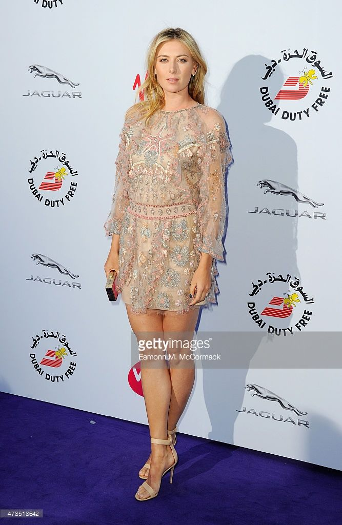 Maria Sharapova attends the annual WTA Pre-Wimbledon Party presented by Dubai Duty Free at The Roof Gardens, Kensington on June 25, 2015 in London, England.