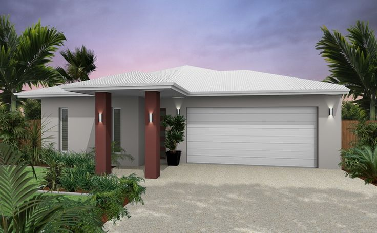 Dune render surfmist garage and roof house colours - The dune house the floating roof ...