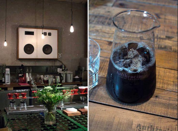 Anthracite coffee roasters Hongdae, Seoul. Coffee bar design.