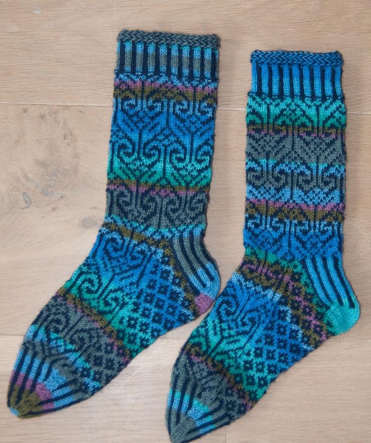 Harika socks (based on Stephanie van der Linden) for my mother
