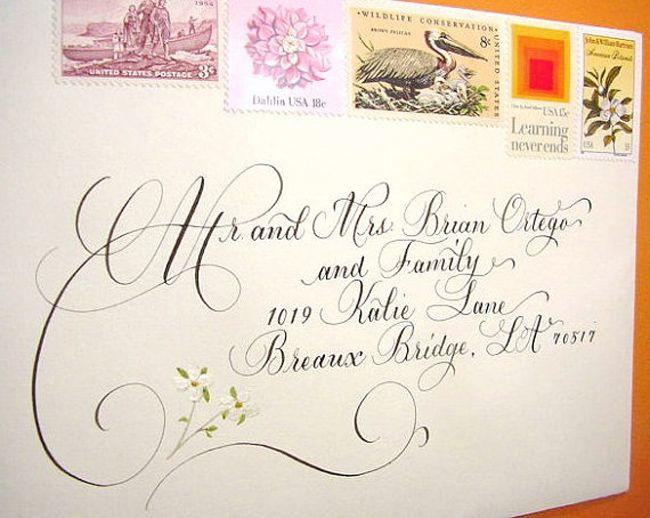 Artist Wedding Invitations: Great Wedding Calligraphy For Addressing Wedding