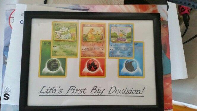Starter pokemon cards picture frame.