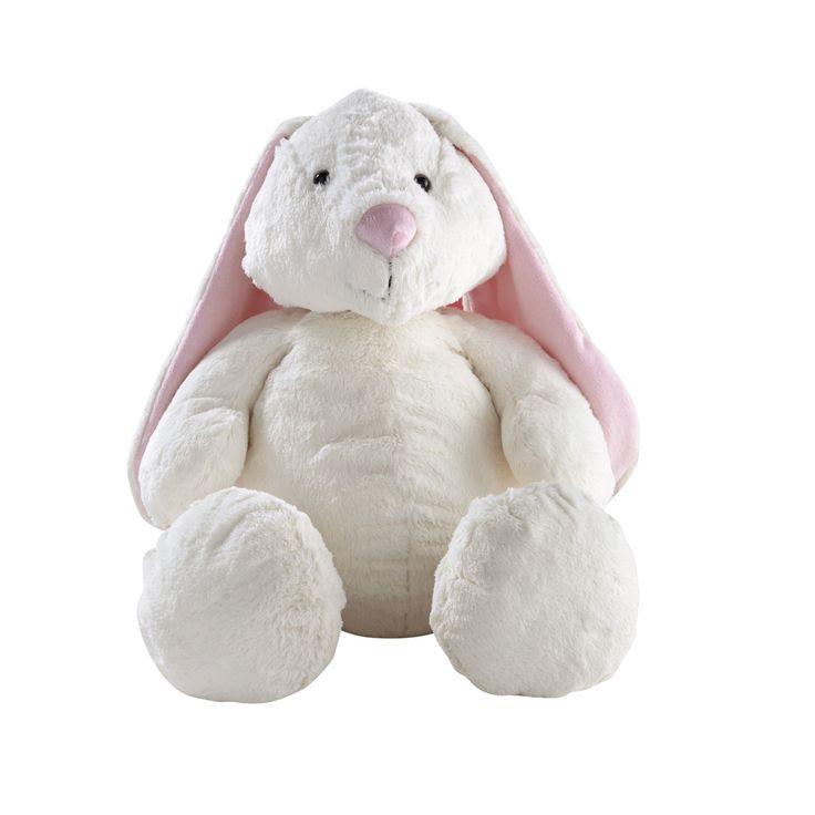 Peluche Bunny blanche et rose moyen modèle